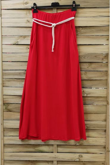 LONG SKIRT WITH 2 POCKETS RED