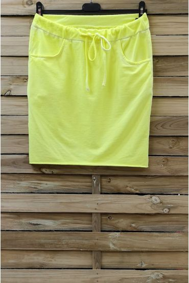SKIRT EFFECT DELAVE 2 POCKETS 0809 YELLOW FLUO