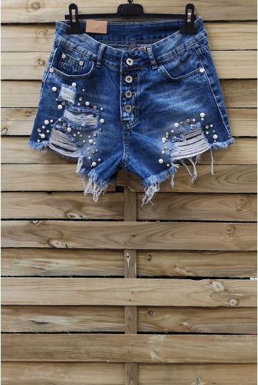 SHORTS JEANS PEARL x 3-0089-BLUE