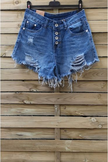 SHORTS JEANS DESTROYED x 3-0090 BLUE