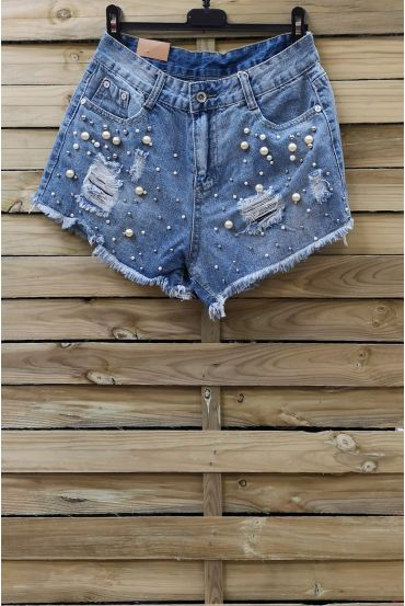 SHORTS JEANS PEARL x 3-0094-BLUE