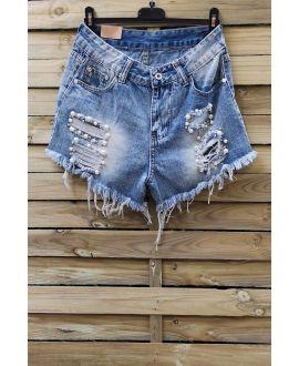 Pantalones CORTOS VAQUEROS de la PERLA x 3-0095 AZUL
