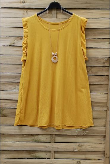 LARGE TOP + NECKLACE 0831 YELLOW