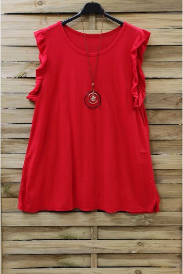 LARGE TOP + NECKLACE 0831 RED