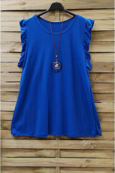 LARGE TOP + NECKLACE 0831 ROYAL BLUE