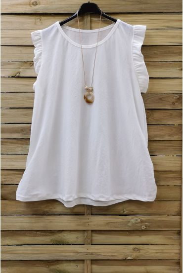 LARGE TOP + NECKLACE 0831 WHITE