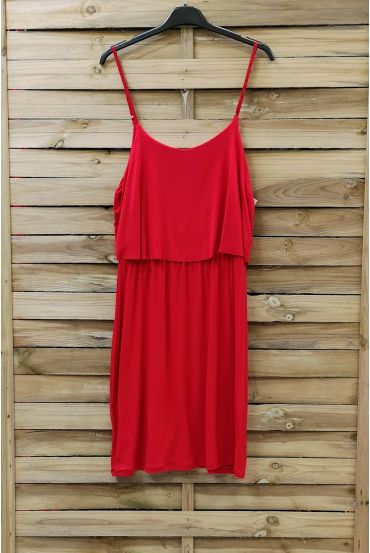 DRESS HAS ADJUSTABLE STRAPS 0845 RED