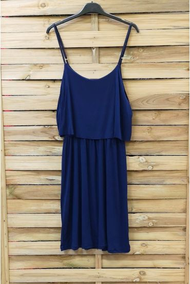 DRESS HAS ADJUSTABLE STRAPS 0845 NAVY BLUE