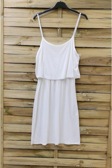 DRESS HAS ADJUSTABLE STRAPS 0845 WHITE