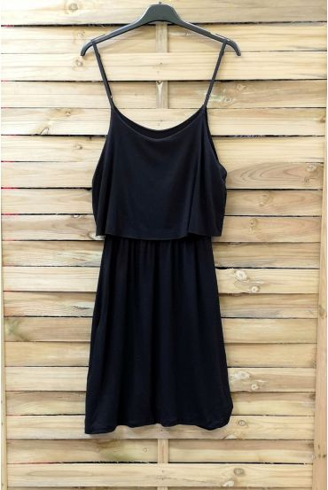 DRESS HAS ADJUSTABLE STRAPS 0845 BLACK