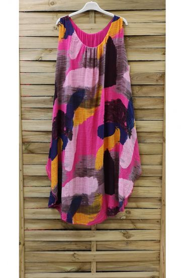 DRESS PRINTED 0842 FUSHIA