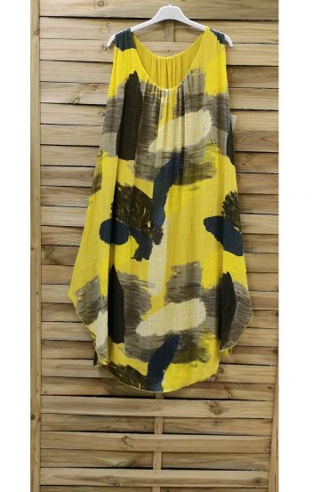 DRESS PRINTED 0842 YELLOW