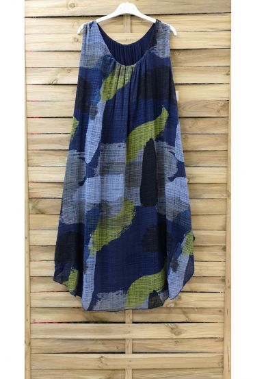 DRESS PRINTED 0842 NAVY BLUE