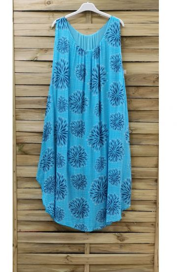 DRESS PRINTED 0841 AZURE BLUE