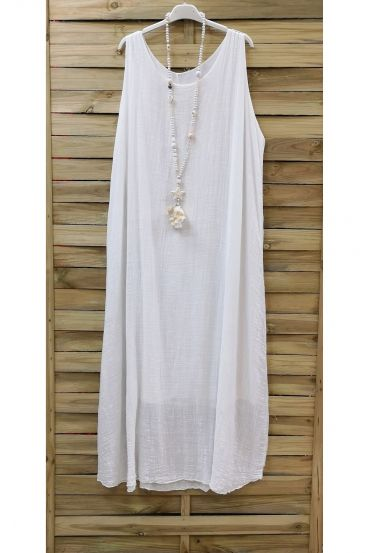 LONG DRESS 0851-WHITE