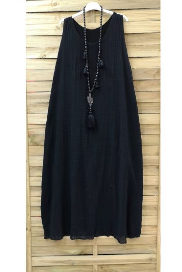 LONG DRESS 0851 BLACK