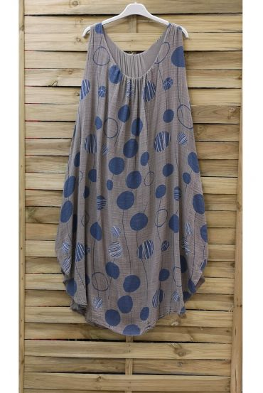 DRESS PRINTED 0852 TAUPE