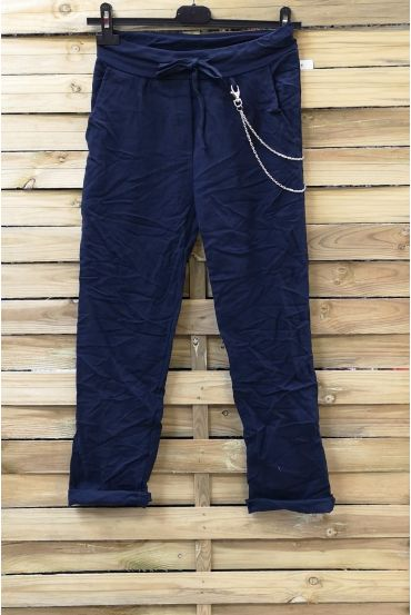 PANTS EFFECT PLEATED 0856 NAVY BLUE