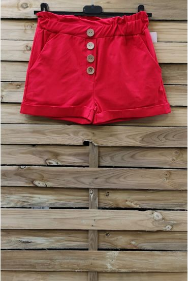 SHORTS HAVE BUTTONS 2 POCKETS 0858 RED