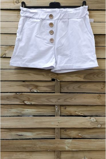 SHORTS HAVE BUTTONS 2 POCKETS 0858 WHITE