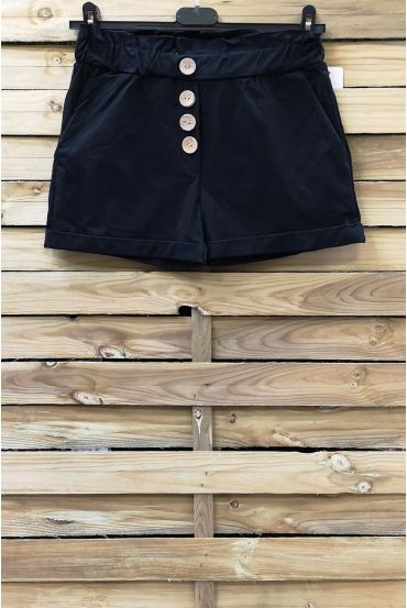 SHORTS HAVE BUTTONS 2 POCKETS 0858 BLACK