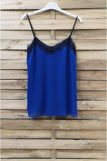 CAMISOLE LACE ADJUSTABLE STRAPS 0863 ROYAL BLUE