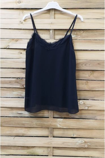 CAMISOLE LACE ADJUSTABLE STRAPS 0863 BLACK
