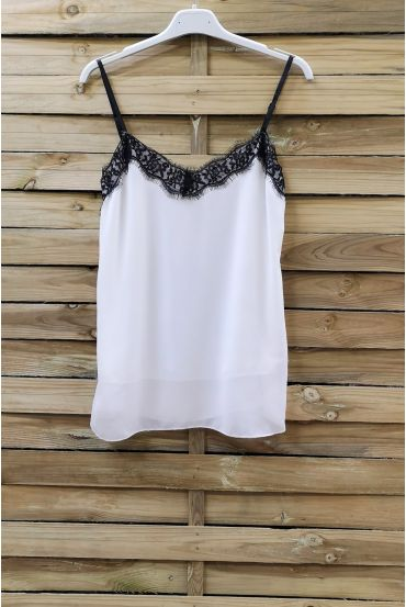 CAMISOLE LACE ADJUSTABLE STRAPS 0863 WHITE