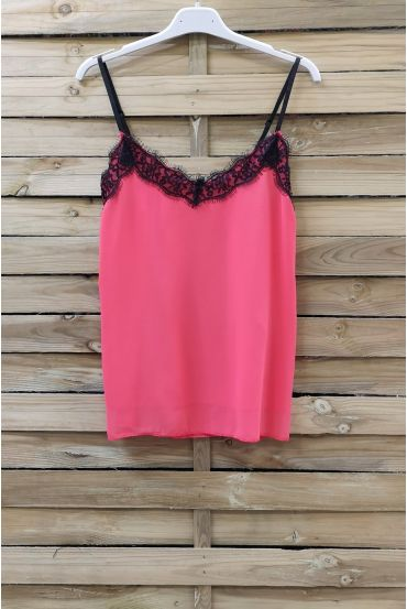 CAMISOLE LACE ADJUSTABLE STRAPS 0863 CORAL