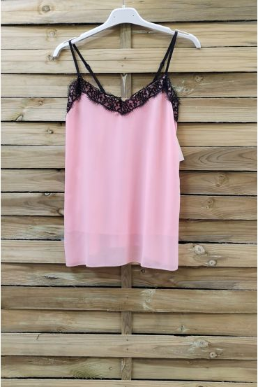 CAMISOLE LACE ADJUSTABLE STRAPS 0863 ROSE