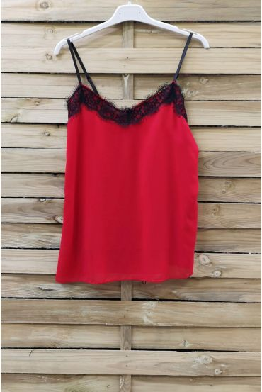 CAMISOLE LACE ADJUSTABLE STRAPS 0863 RED
