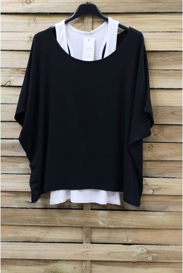 T-SHIRT + TANK TOP 0866 BLACK