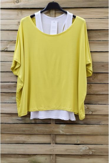 T-SHIRT + TANK TOP 0866 YELLOW
