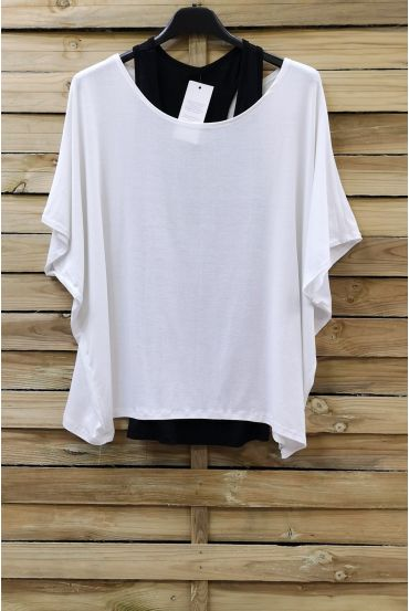 T-SHIRT + TANK TOP 0866 WHITE
