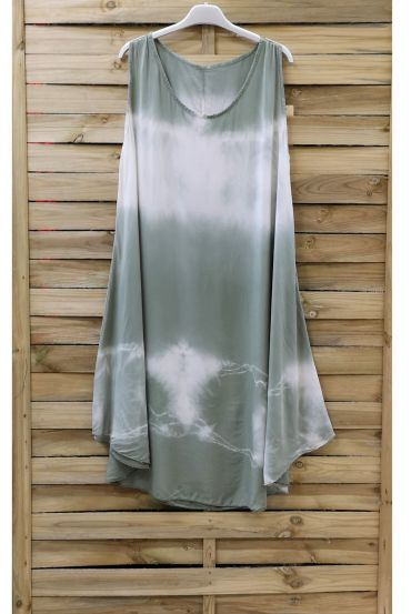 DRESS TIE-DYE 0867 MILITARY GREEN