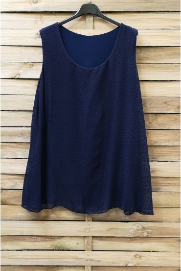 LARGE SIZE TOP 0874 NAVY BLUE