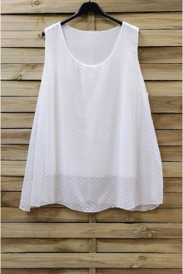 LARGE SIZE TOP 0874 WHITE
