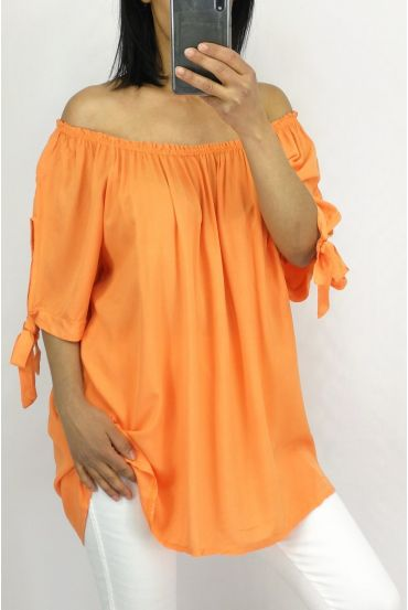 TOP SCOOP NECKLINE ELASTIC 0848 ORANGE