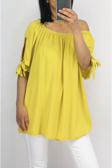 TOP SCOOP NECKLINE ELASTIC 0848 YELLOW