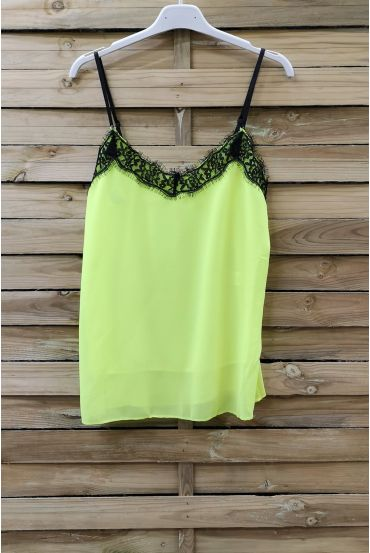 CAMISOLE LACE ADJUSTABLE STRAPS 0863 YELLOW FLUO