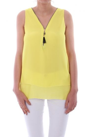 TOP ZIPS BACK CROSSES 0887 YELLOW