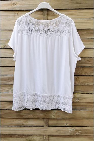 LACE TOP 0634 WHITE