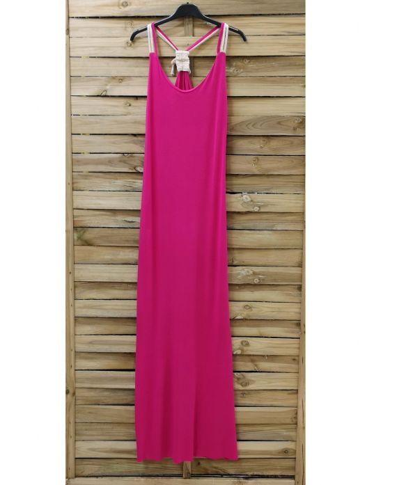 BACK LONG DRESS FANCY 0922 FUSHIA