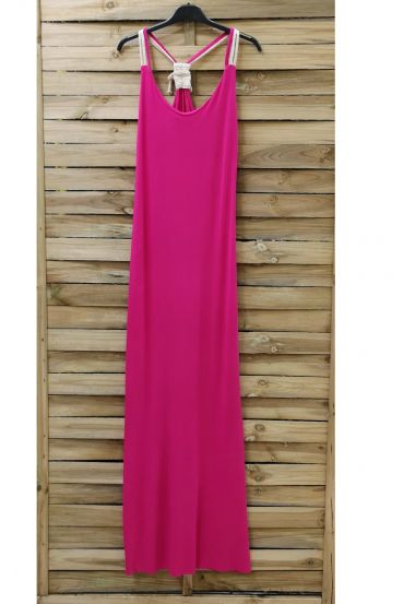 BACK LONG DRESS FANCY 0922 FUSHIA