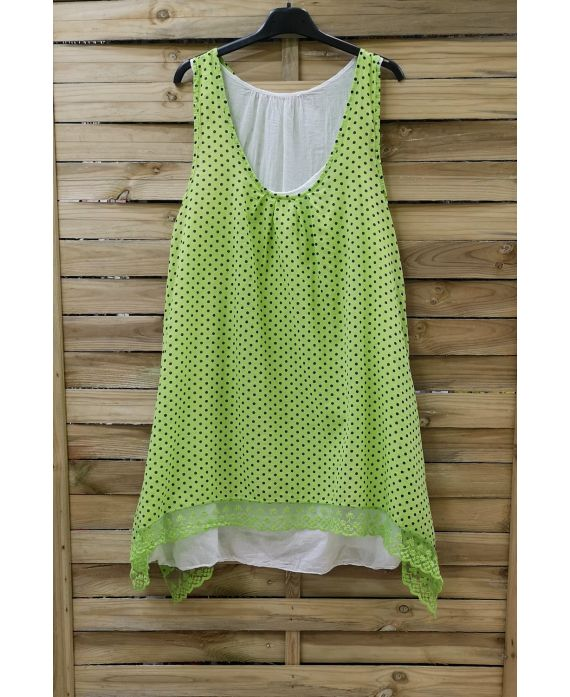 TUNIC POLKA DOTS 2 PIECES 0994 GREEN ANISE