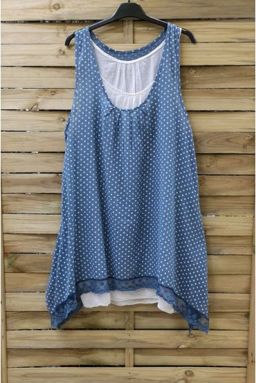 TUNIC POLKA DOTS 2 PIECES 0994 BLUE
