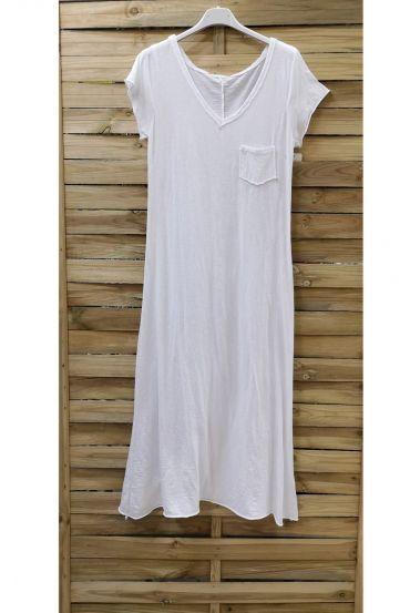 LONG DRESS POCKET 0947 WHITE