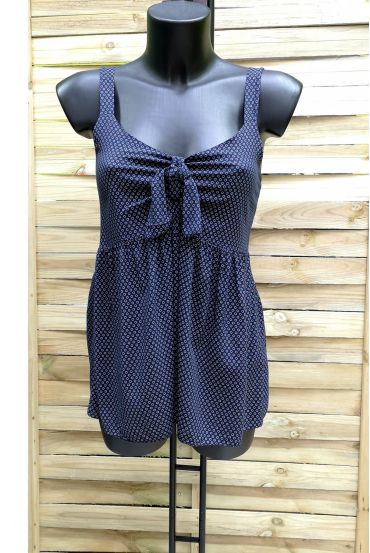 TOP HAS SHOULDER STRAPS, BACK ELASTIC 1018 NAVY BLUE