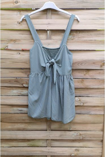 TOP HAS SHOULDER STRAPS, BACK ELASTIC 1018 MILITARY GREEN