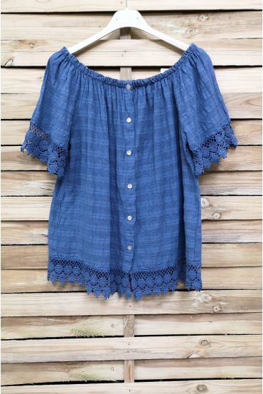 TOP LACE ON SHOULDERS 1017 BLUE